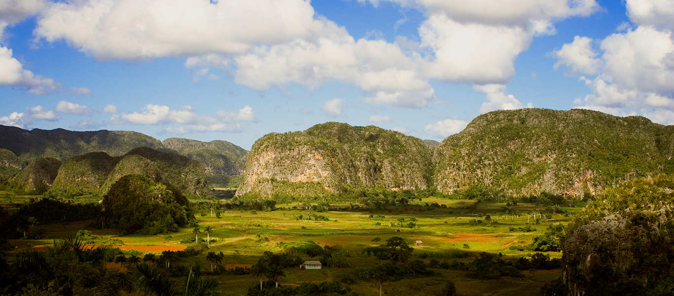 Cuba tours slide showing Vinales Valley