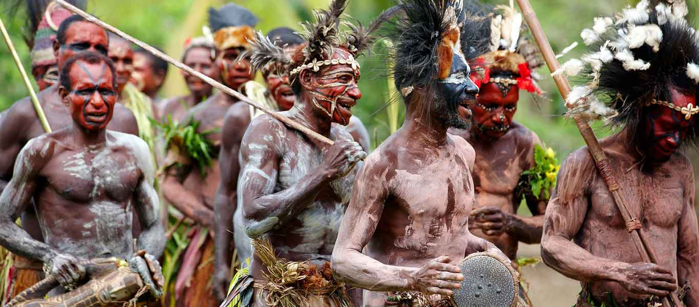 Papua New Guinea travel image of a SIng-sing performance