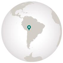 Travel to Bolivia globe graphic