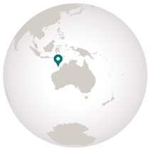 Rowley Shoals graphic showing location on globe