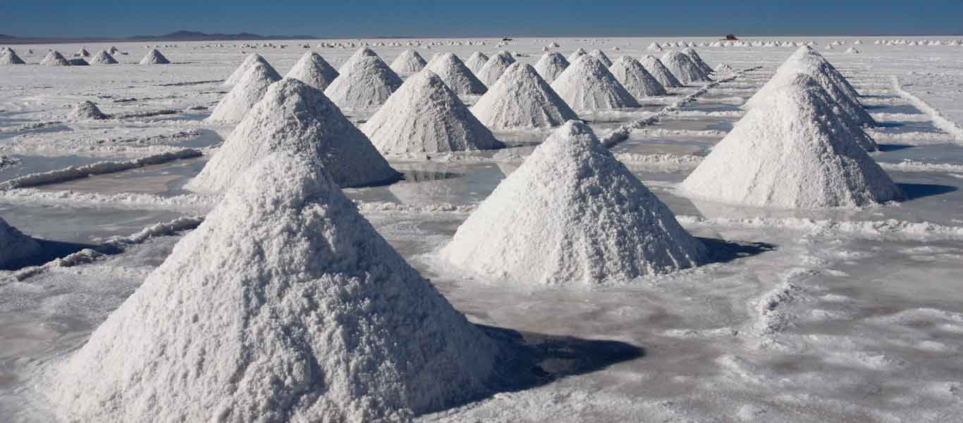 Bolivian salt flats image of Colchani salt mounds