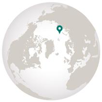 Franz Josef Land graphic of location on globe