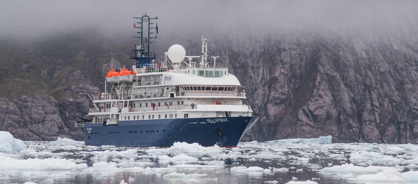 Franz Josef Land cruise photo of Sea Spirit in ice