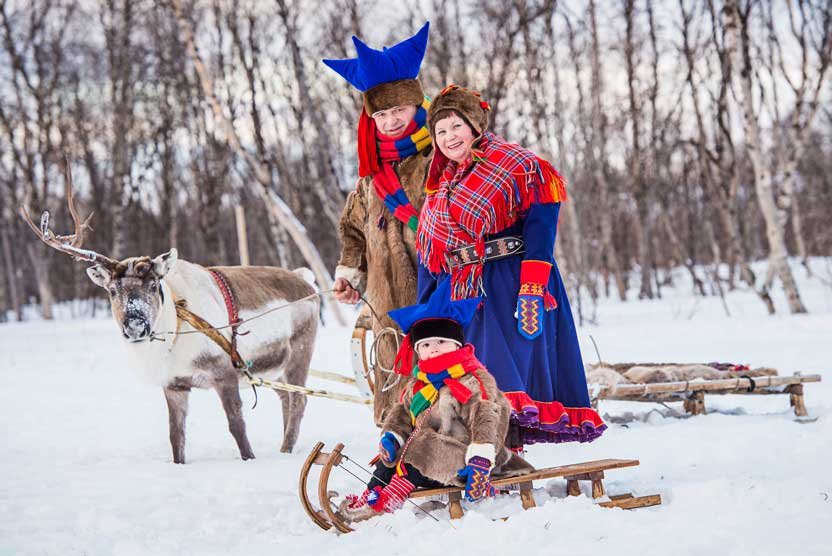Sami culture trip image of family in Norway