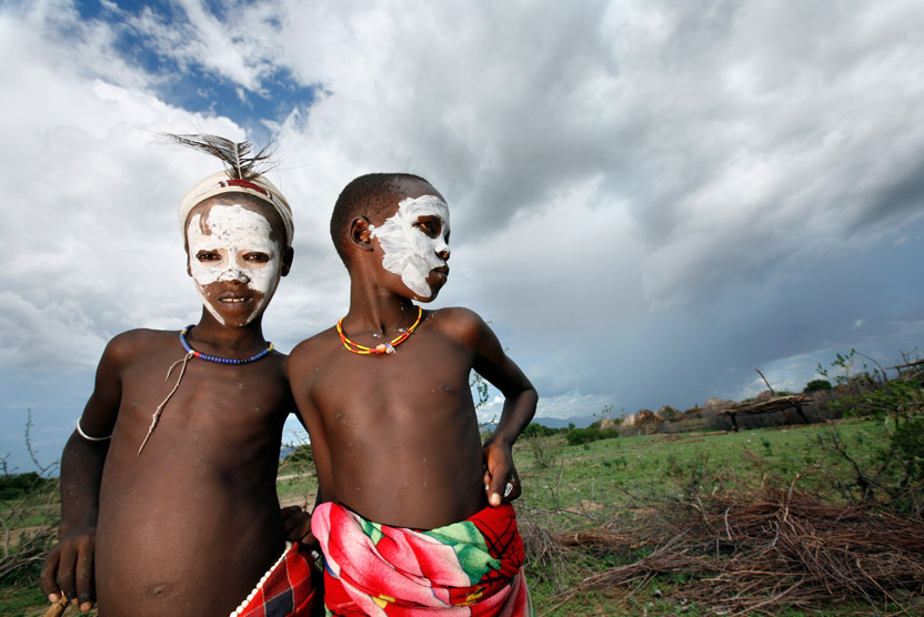 Ethiopia travel image of children in Omo Valley