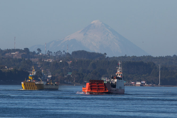 Patagonia adventure tour slide shows crossing to Chiloe Island