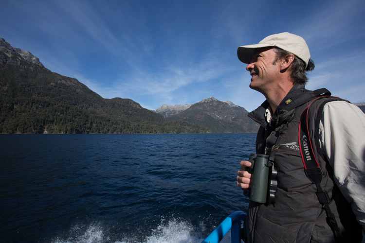 Apex Expeditions leader Jonathan Rossouw on the water