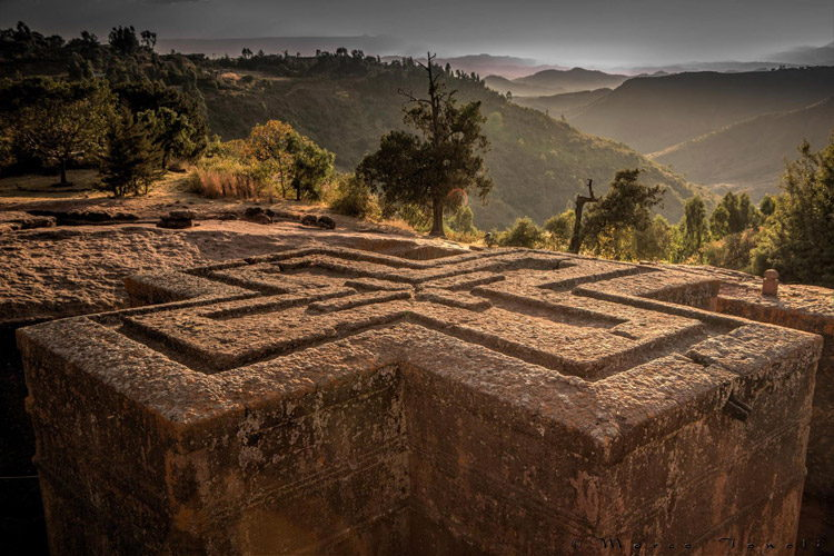 Ethiopia travel tour image of Church of St. George in Lalibela