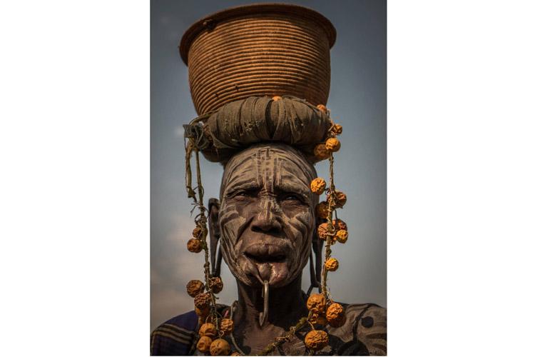 Ethiopia tour photo of Mursi tribe body modification