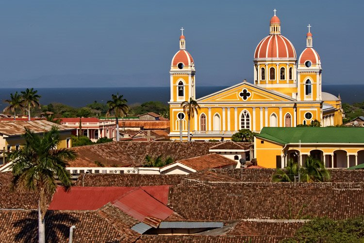 Nicaragua tour photo of Granada cathedral and buildings