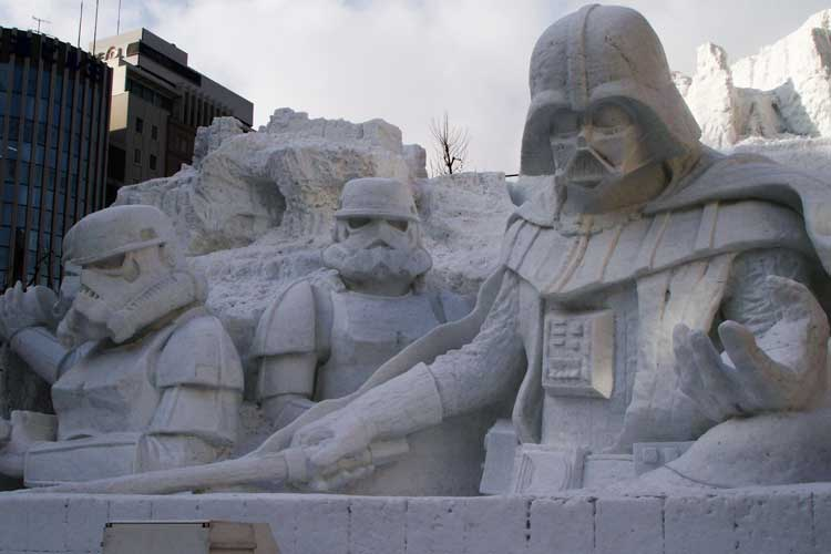 Japan tours image of a Star Wars-themed snow sculpture in Sapporo