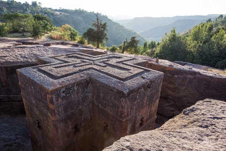 Ethiopia travel tour photo of Church of Saint George in Lalibela