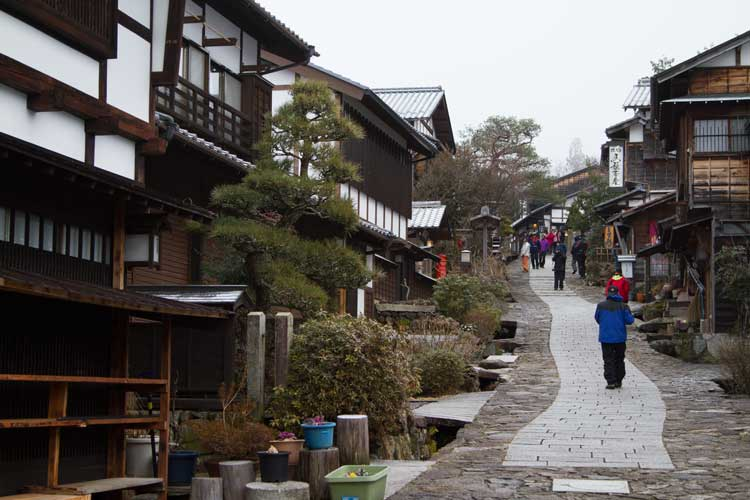 Japan tours image of traditional buildings in Magome, Japan