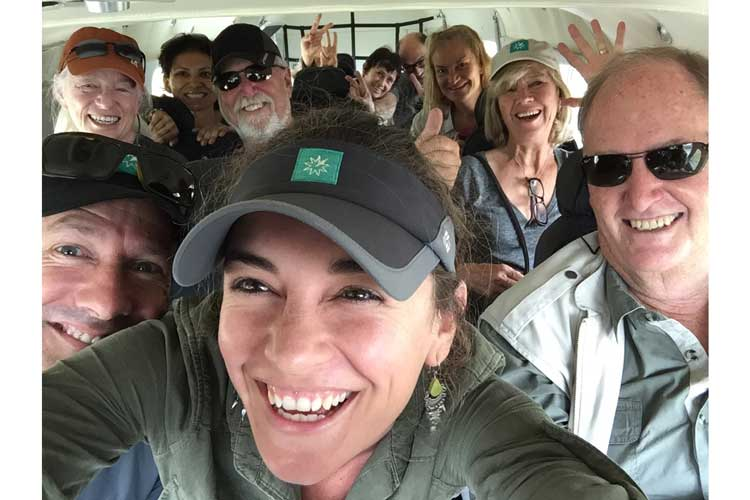Congo gorilla safari photo showing guests in the plane from Brazzaville to Odzala