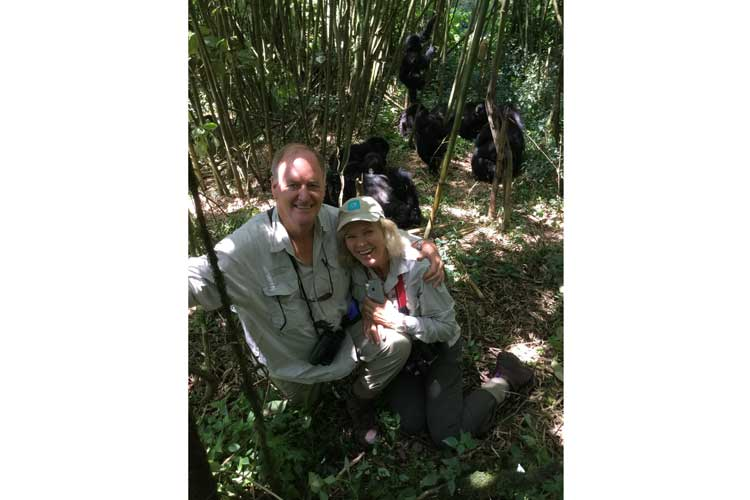 Gorilla safaris image of adventurers with Hirwa group