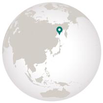 Sea of Okhotsk graphic showing location on globe