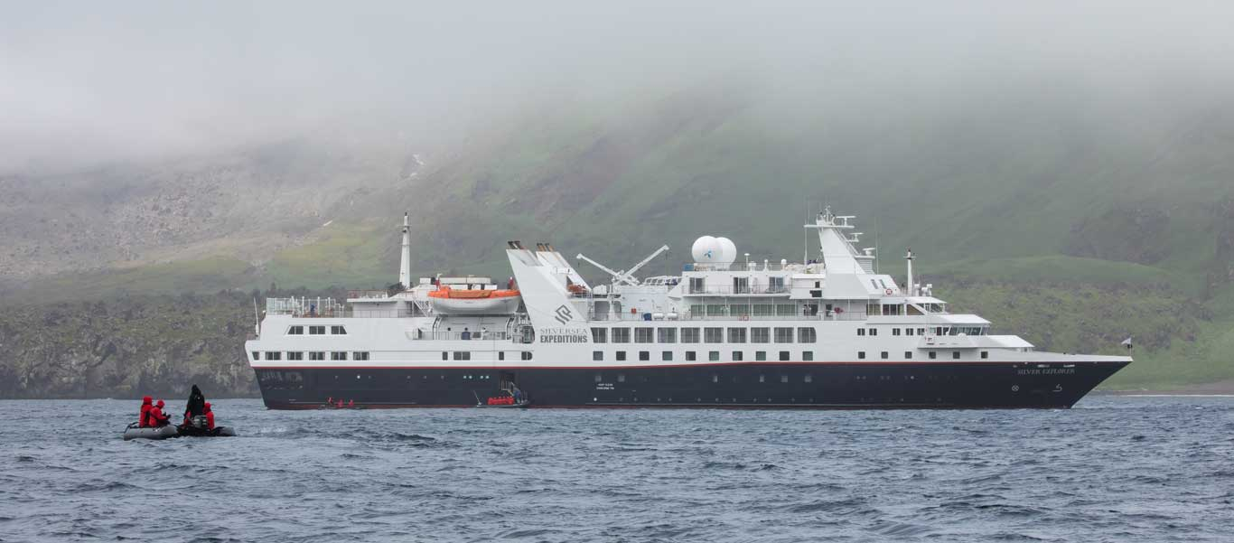 Sea of Okhotsk photo of Silver Explorer near Chirpoy Island in the Kuril Islands