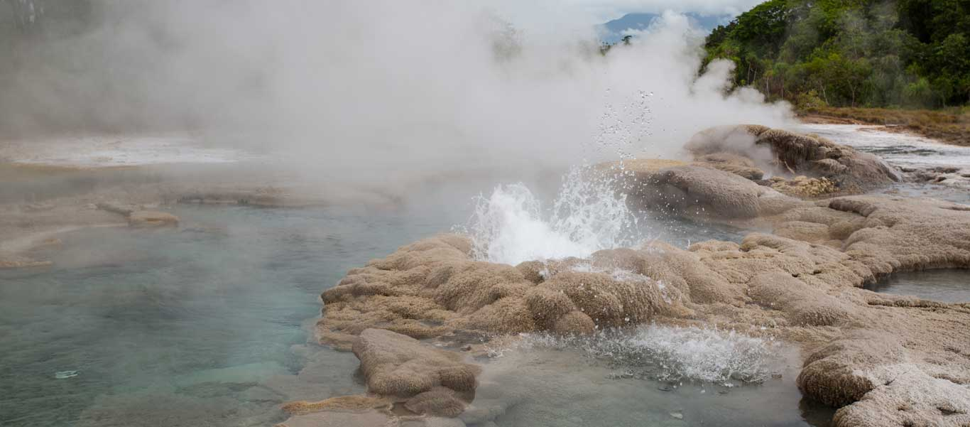 Small ship south pacific cruises photo showing Fergusson Island Hot Springs