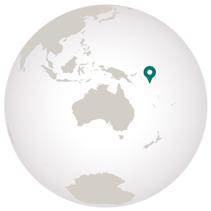 Melanesia cruise graphic of globe