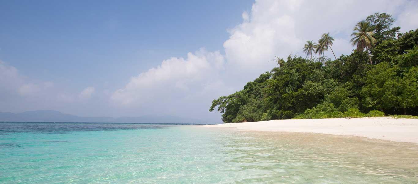 South pacific adventure image of idyllic beach