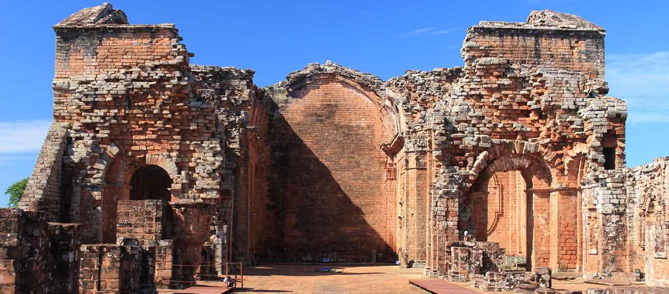 Paraguay history image of ruins at Trinidad