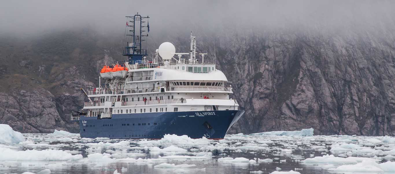 Franz Josef Land cruise photo of Sea Spirit in ice