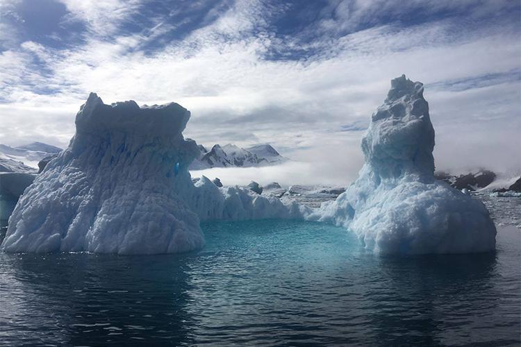 Antarctica ice at cierva cove antarctic peninsula