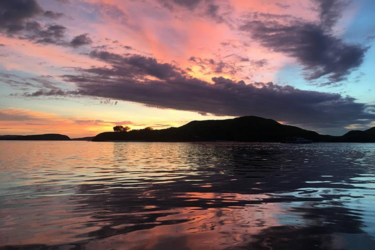 Komodo Island sunset seen on Western Australia and Komodo Diving tour