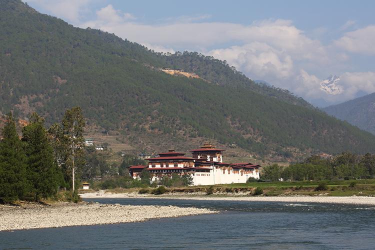 Punakha Dzhong in Bhutan seen on 9000 bird quest
