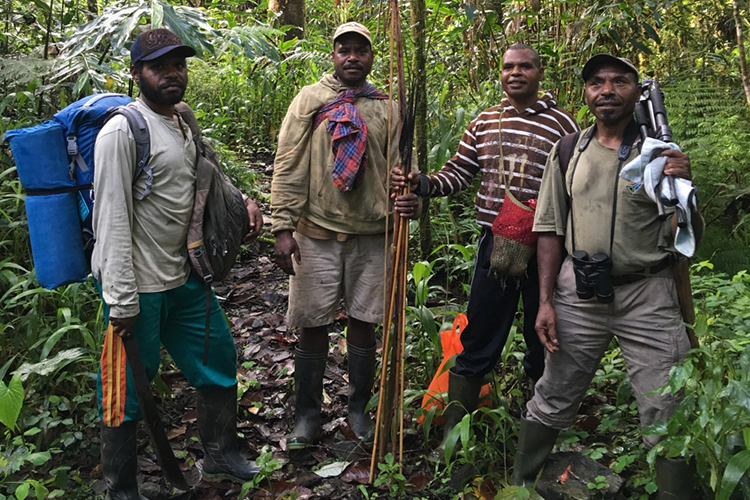 Team at Arfak Mountains in western New Guinea on 9000 bird quest