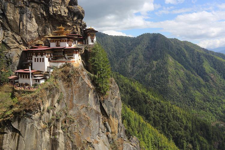 Tigers Nest Monastery in Bhutan seen on 9000 bird quest