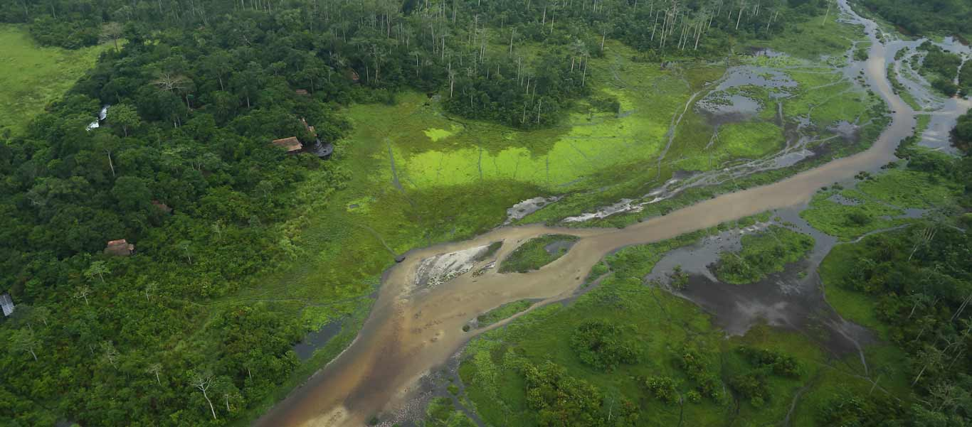 Congo gorilla safaris aerial photo of Lango Bai