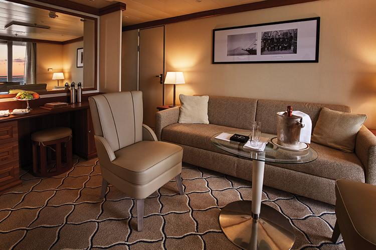 Silver Explorer suite sitting area