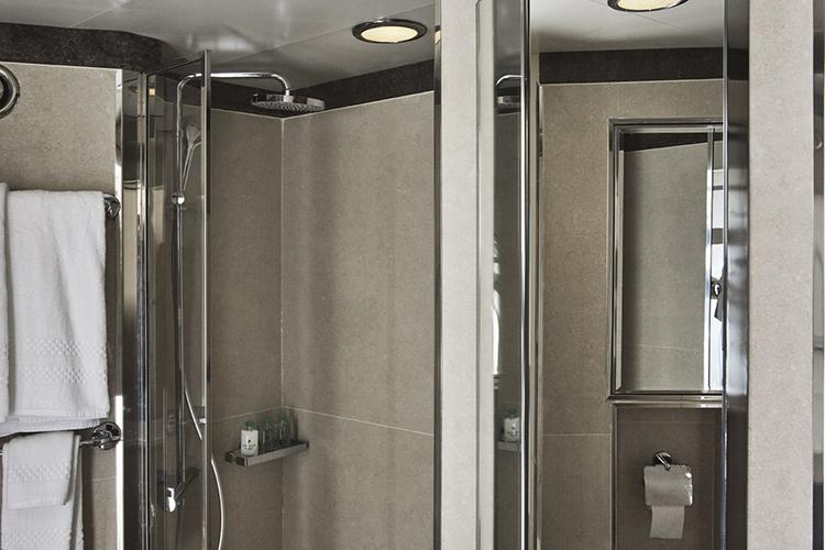 Silver explorer shower in bathroom