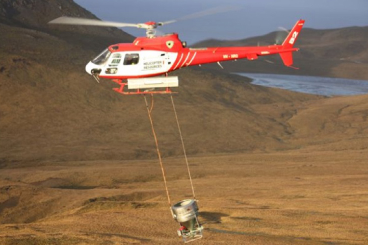 Helicopter on Gough Island