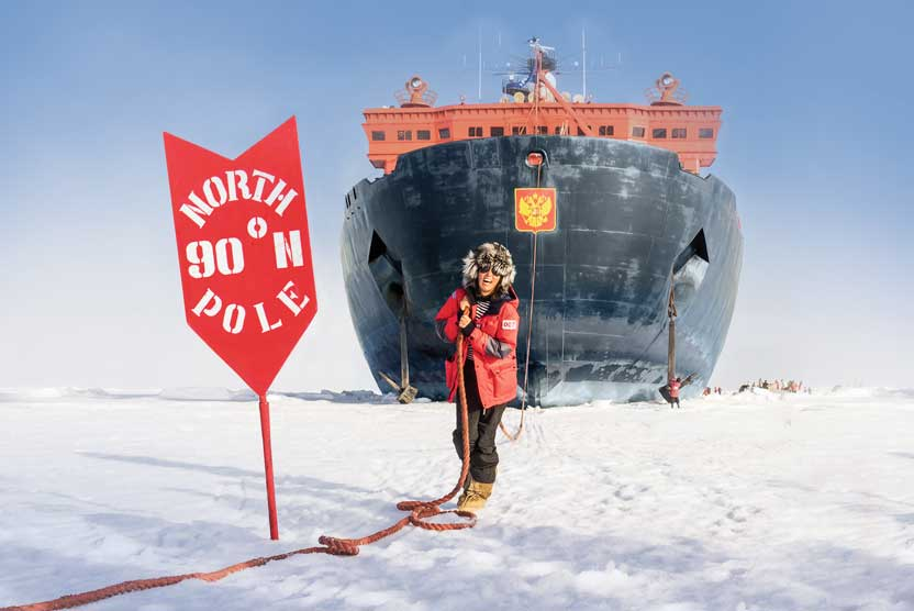 North Pole cruise image of 50 Years of Victory at the pole