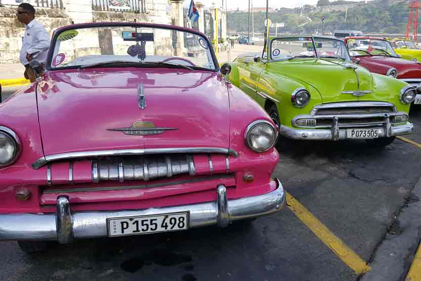 Cuba travel photo of classic cars