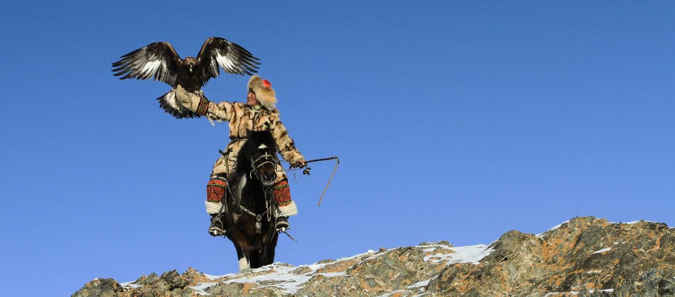 Golden eagle festival image of eagle hunter