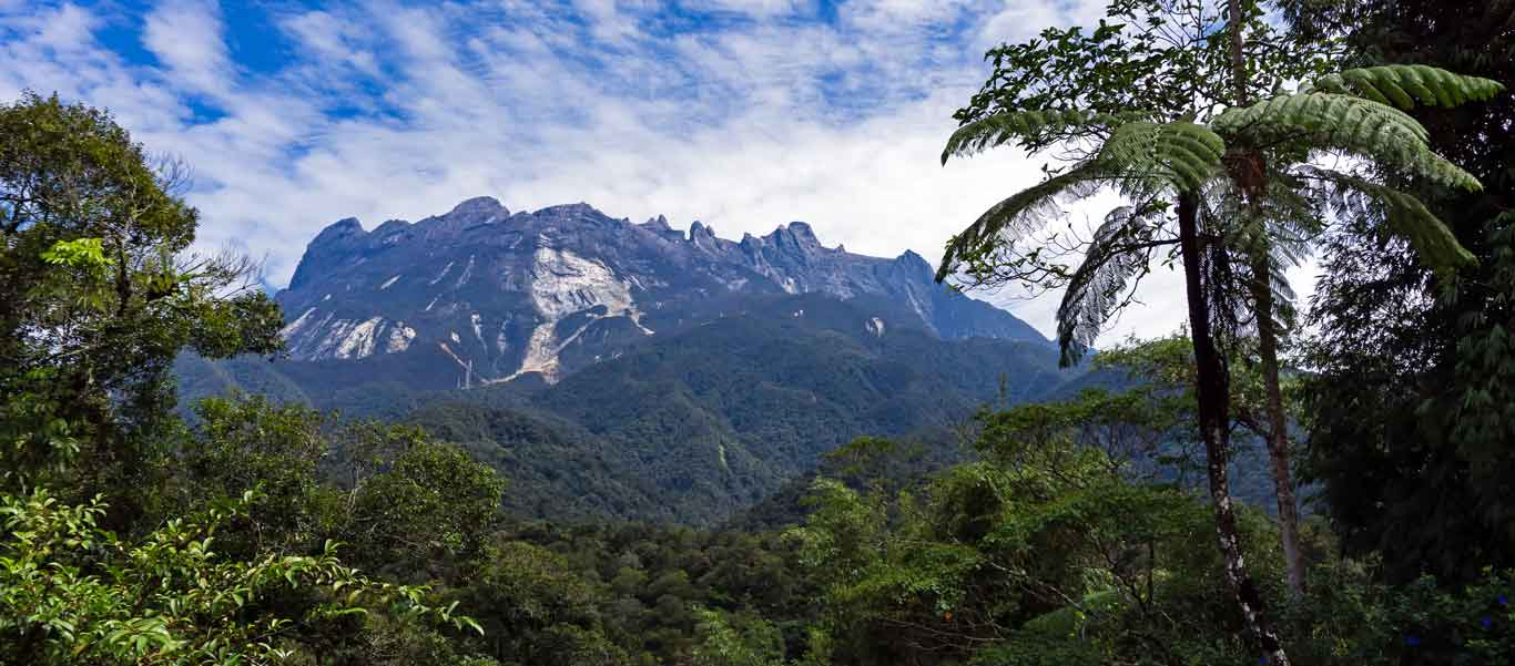 Orangutan tour photograph of Mt. Kinabalu in Borneo