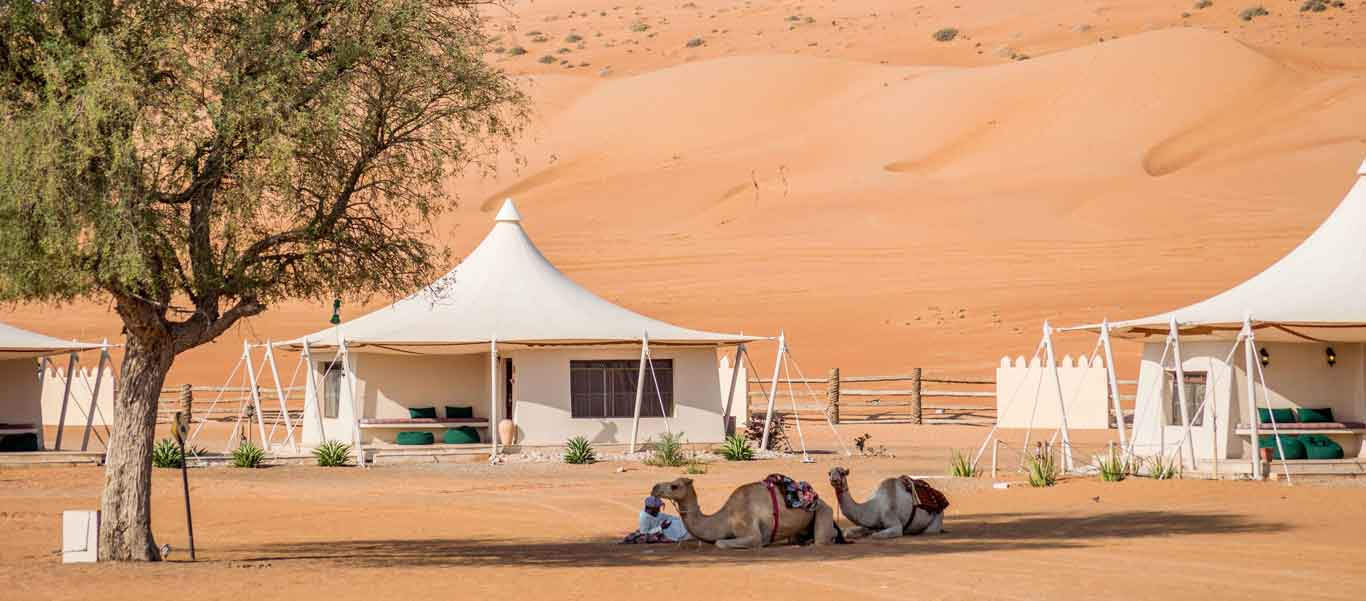 Oman travel image of Wahiba Sands tented camp
