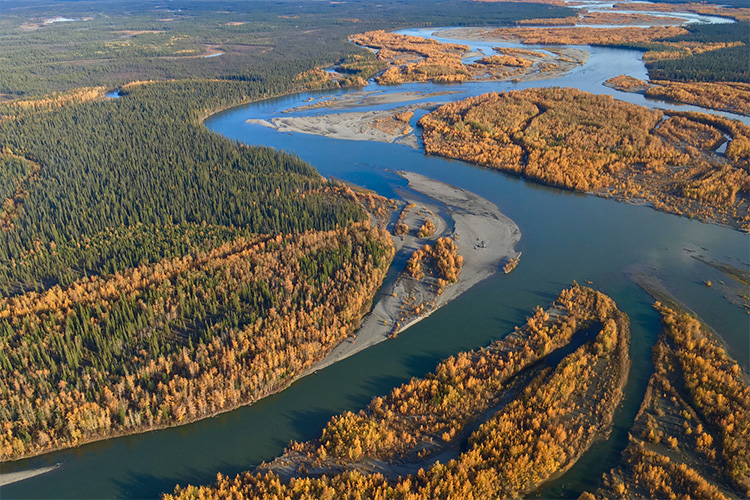 Aerial-image-Yukon-River