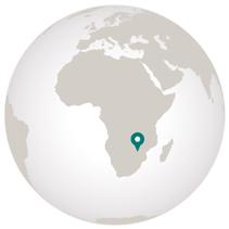 Zimbabwe safari image of location on globe