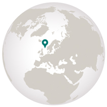 Cruise the British Isles and Norway graphic showing location on globe