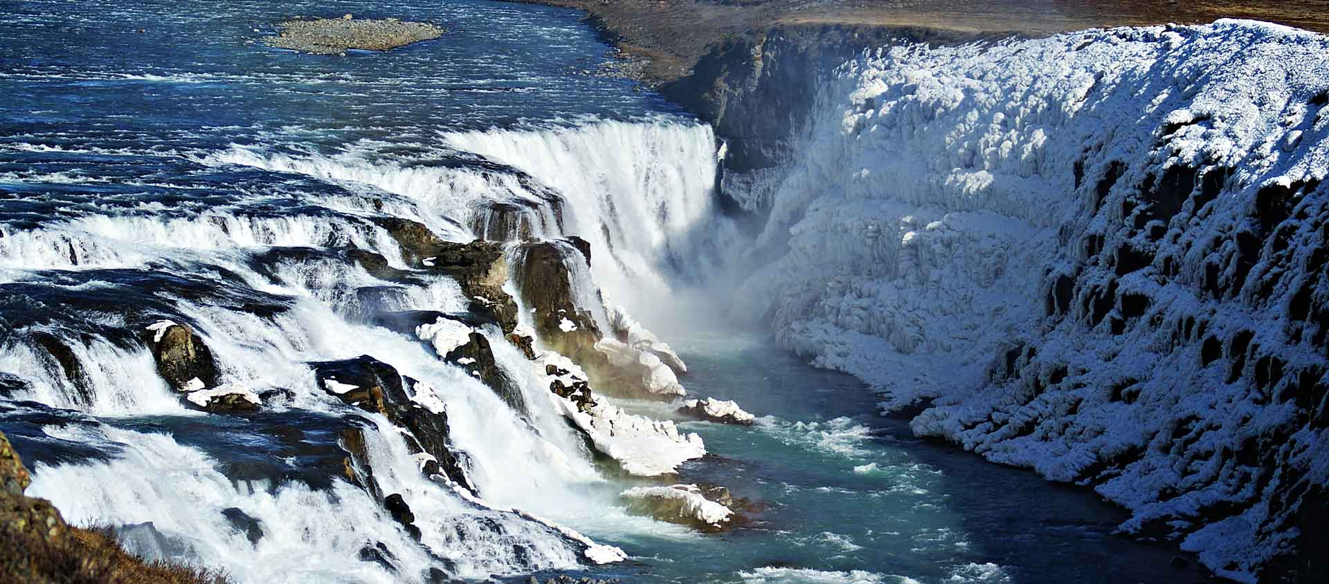Travel to Iceland in Spring photo of Gulfoss Waterfall