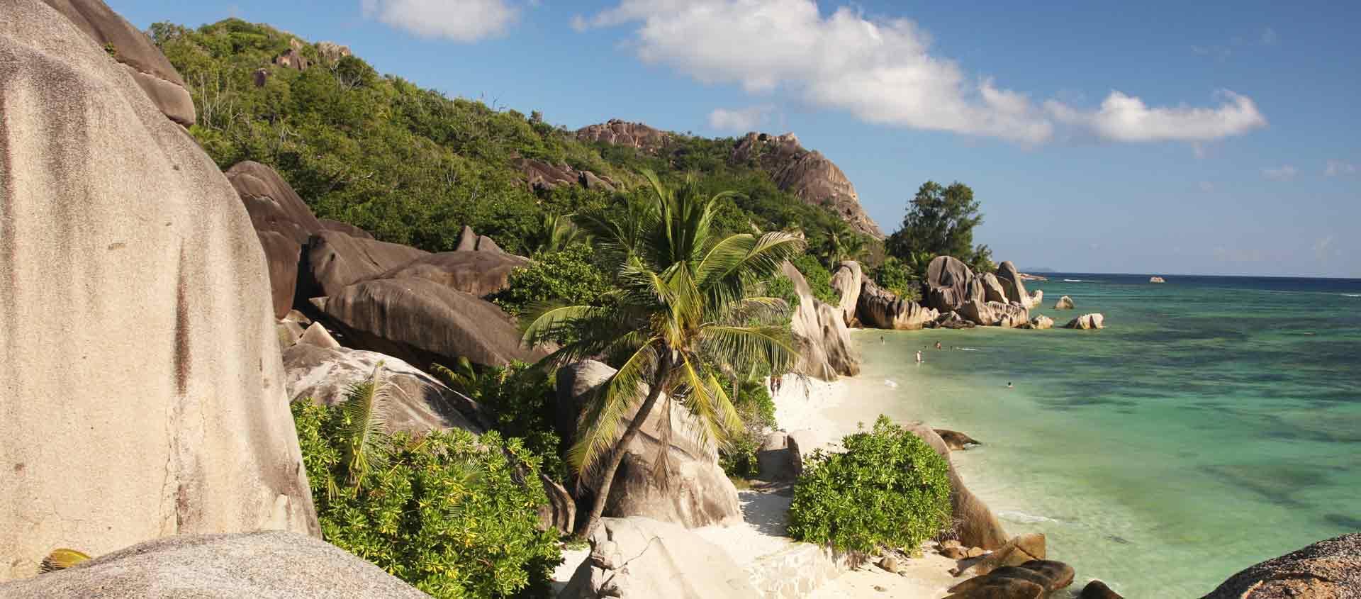 Seychelles cruise photo of beach on La Digue