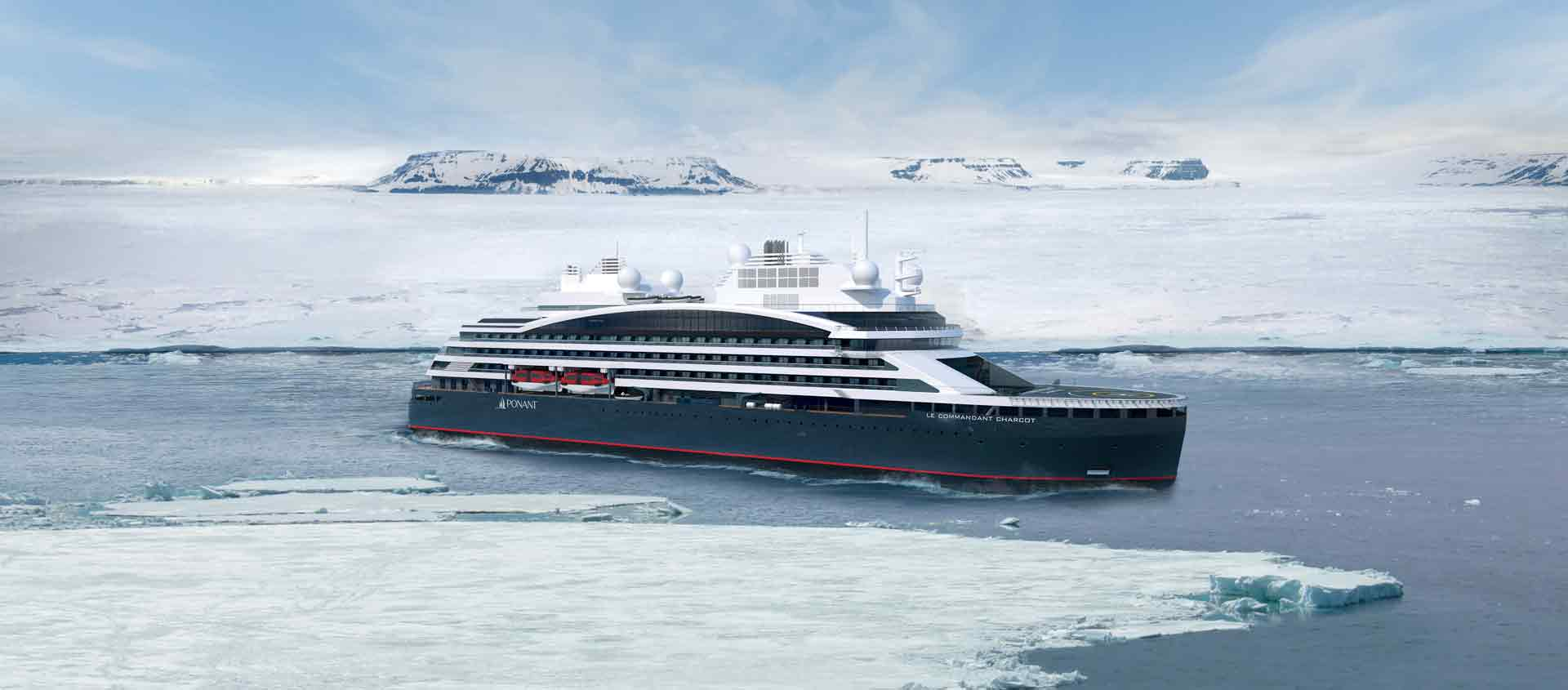 Cruise South of the Antarctic Circle image of icebreaker Le Commandant Charcot