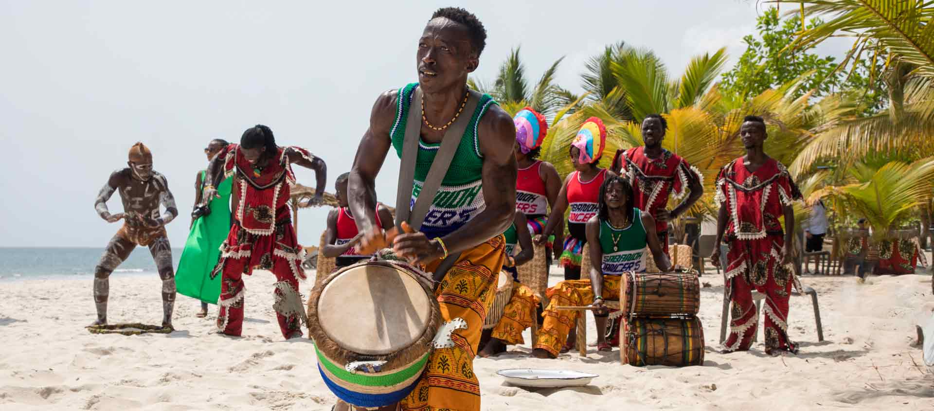 West Africa cruise photo of musicians in Tokeh Sierra Leone