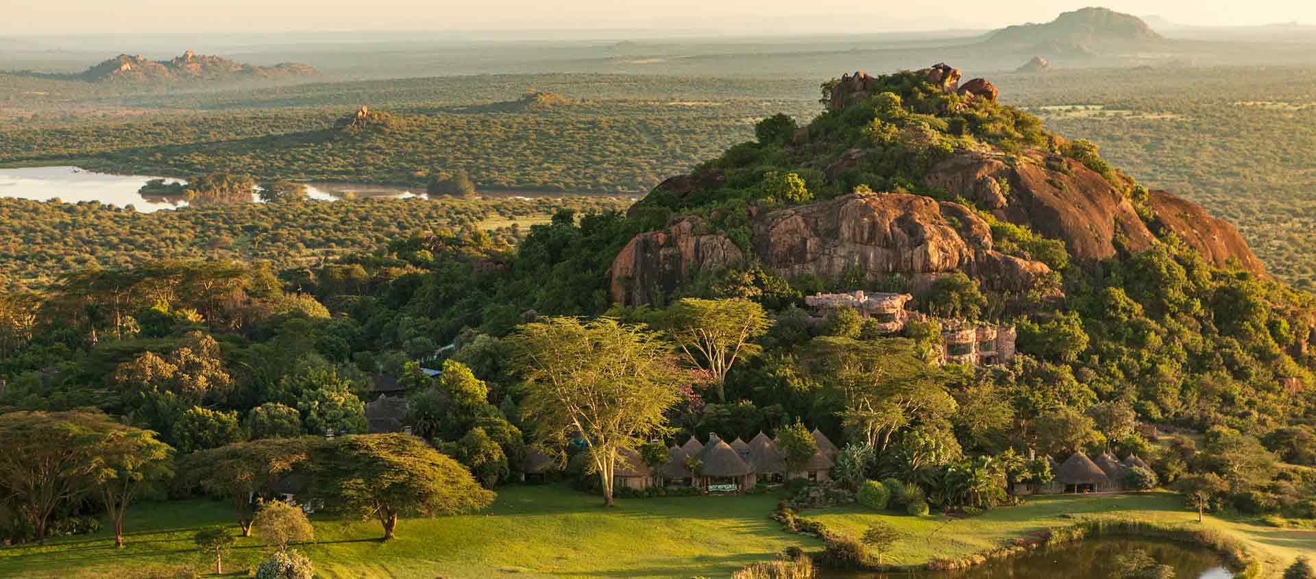 Kenya Private Wildlife Reserves aerial view of Ol Jogi