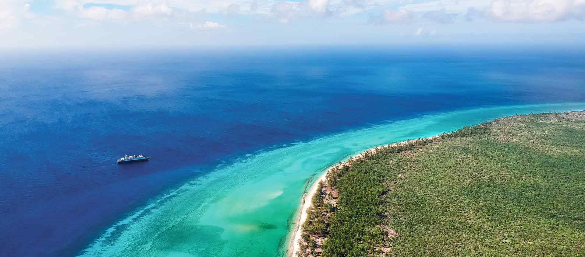 Seychelles Islands cruise aerial photo of Aldabra Atoll