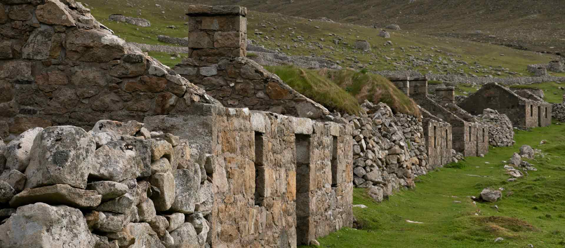 Cruise the British Isles and Norway photo showing ruins at St. Kilda